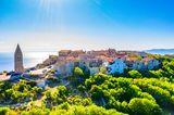 Kleine Stadt Lubenice auf der Insel Cres