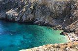 Mali Bok Strand, umgeben von hohen Klippen auf der Insel Cres