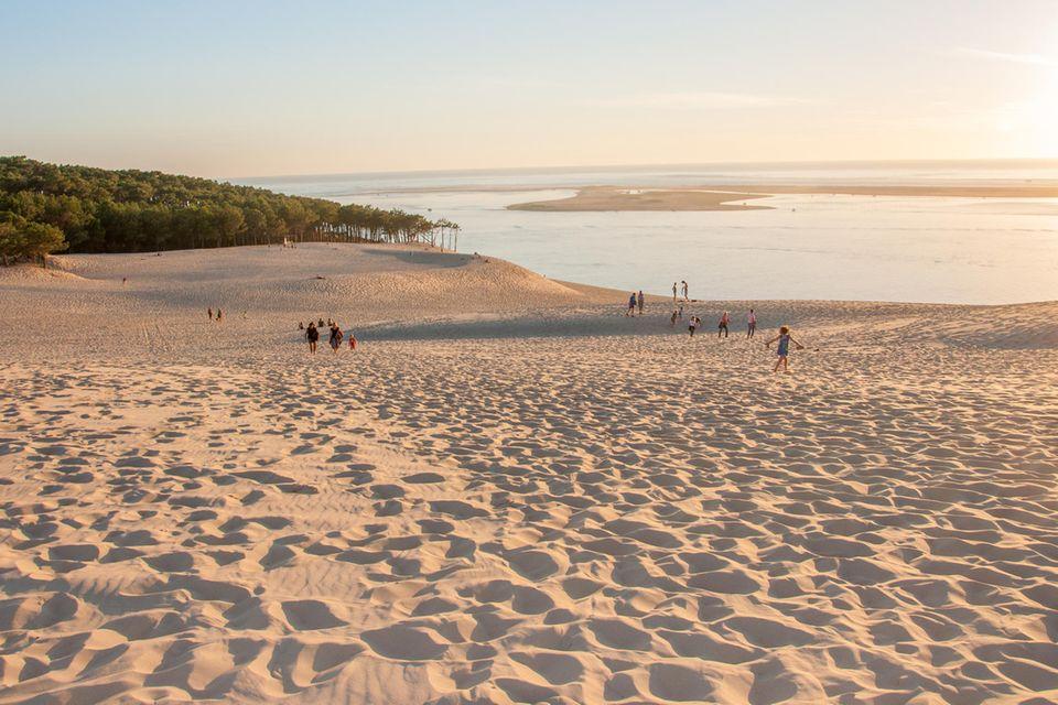 Düne von Pilat: Selfie über dem Meer