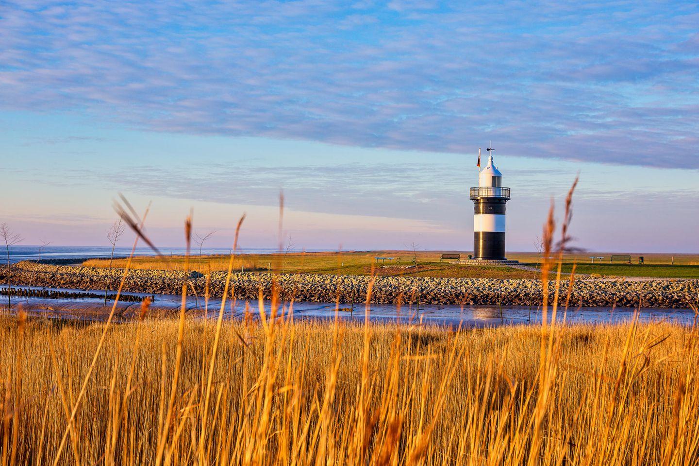 Leuchturm Kleiner Preuße in der in der Region Wuster Nordseeküste