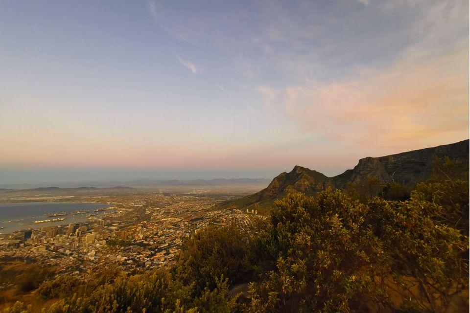 Blick über das südafrikanische Kapstadt