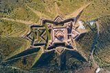 Luftfoto der Festung Nossa Senhora da Graca