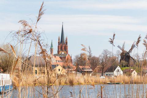 Blick auf die Skyline von Werder