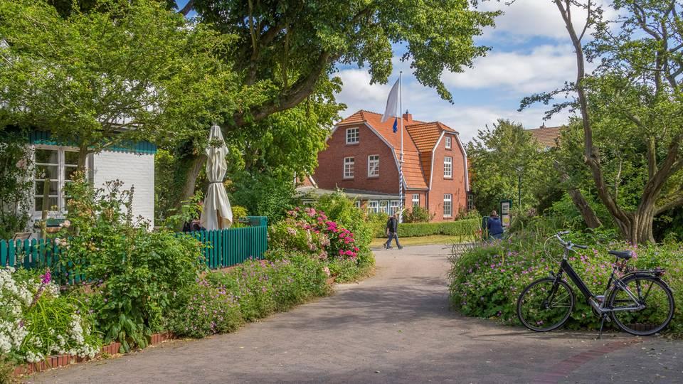 Fußgänger-Straße auf der Insel Spiekeroog