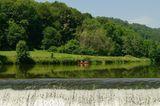 Kanu auf der Lahn bei Runel