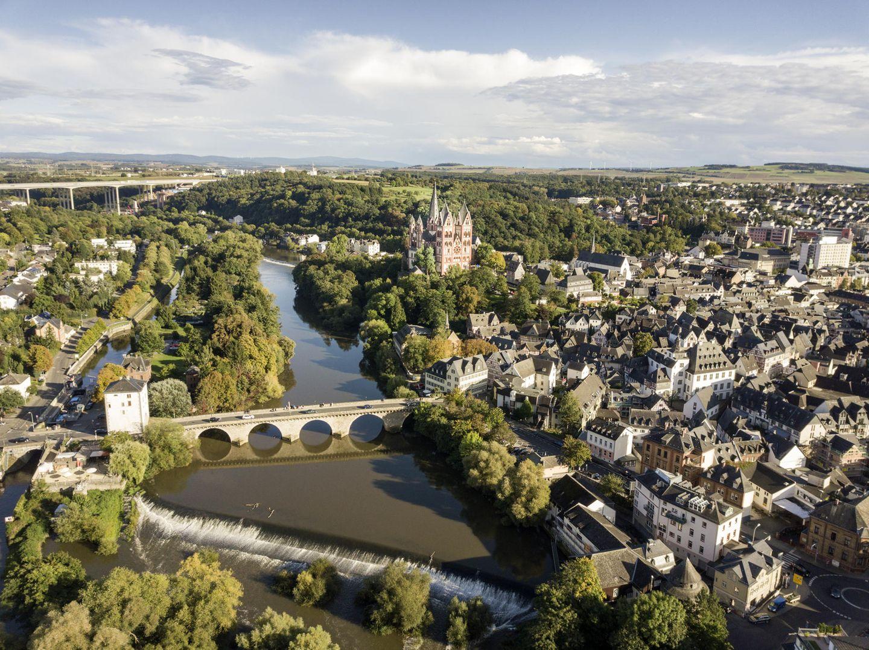 Blick auf die Altstadt in Limburg
