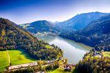 Blick auf den Lunzer See und das Gebirge