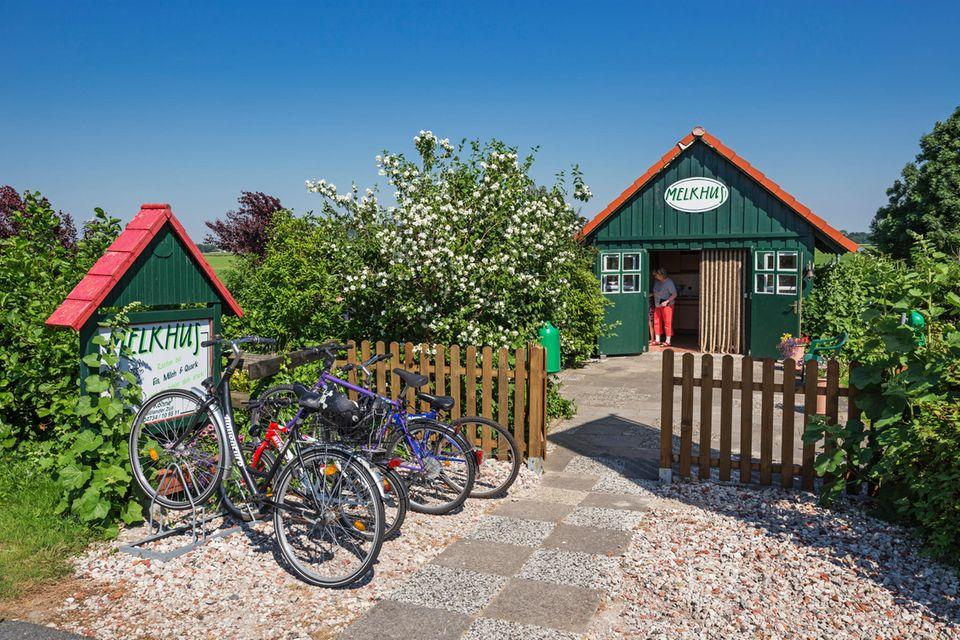 Beliebte Ausflugsziele in der Wesermarsch sind die Melkhüser. In den kleinen Holzhütten werden verschiedene Milchprodukte angeboten - wenn es die Coronalage wieder erlaubt.