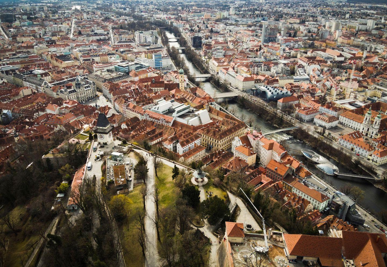 Graz – Blick vom Schlossberg