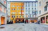 Blick auf das Geburtshaus von Mozart in Salzburg