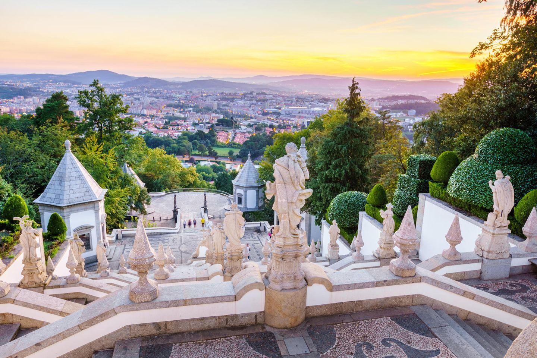 Der Blick von der Wallfahrtskirche des Bom Jesus do Monte