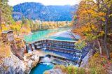 Lechfall bei Füssen im Herbst, Bayern