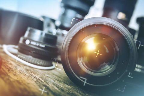 Digitalkamera-Objektiv in der Nahaufnahme