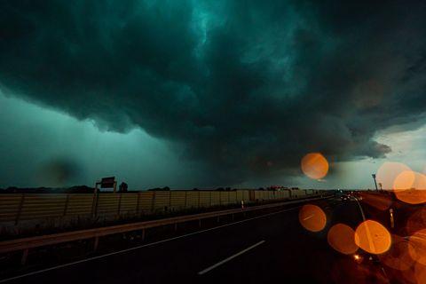 Unwetter mit Shelf Cloud