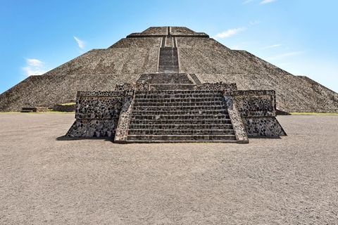 The pyramid of the Sun ancient ruins building  in Teotihuacan, Mexico. (Photo by: Avalon/Universal Images Group via Getty Images)