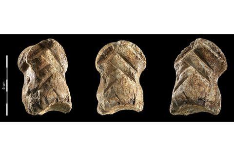 Der verzierte Riesenhirsch-Knochen in der Einhornhöhle gilt unter Archäologen als Sensation, weil er zeigt, dass die Neandertaler vor mehr als 50.000 Jahren schon erstaunliche kognitive Fähigkeiten hatten