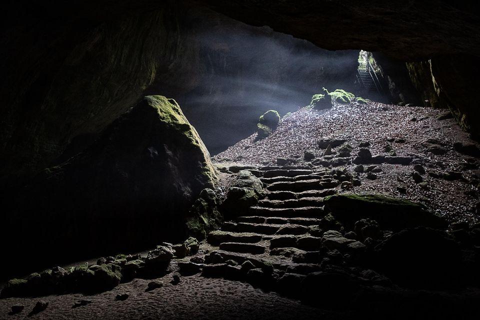 Nebel in der Blauen Grotte der Einhornhöhle