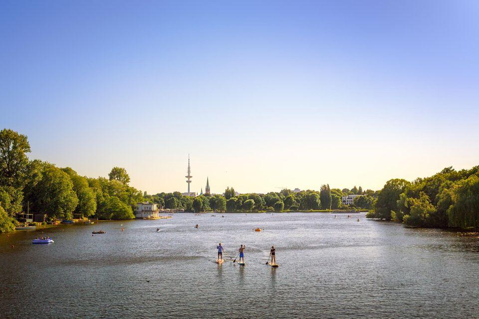 Ein urbanes Wasserrevierunter vielen in Deutschland:Hamburg