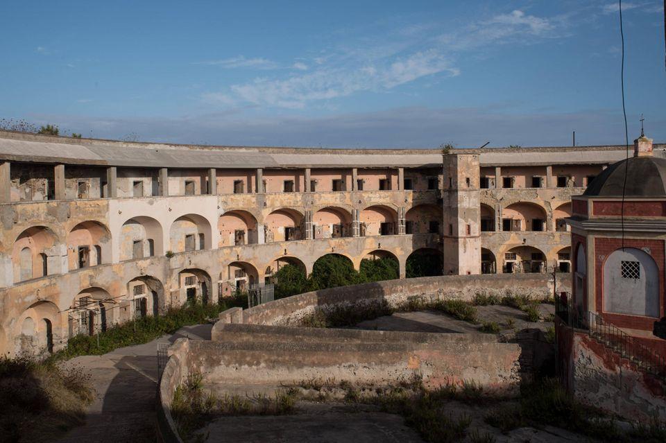 Gefängnis auf Santo Stefano von Innen