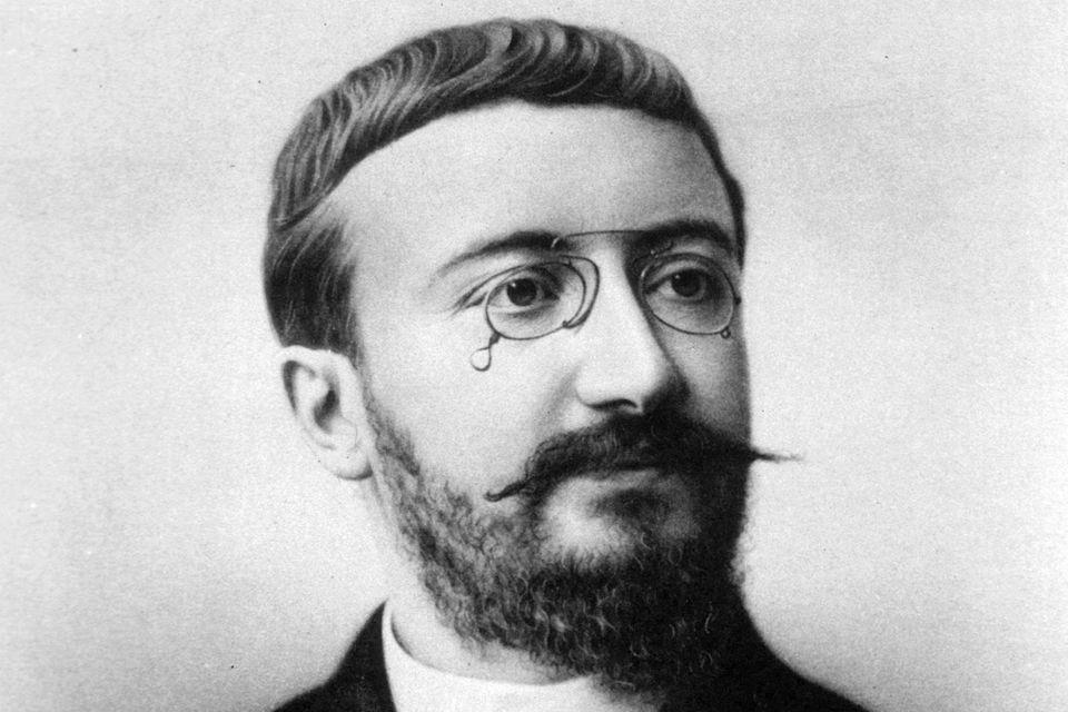 Schwarz-Weiß-Foto des Psychologen Alfred Binet
