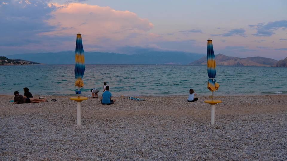 Der Strand Vela bei Baška einer der schönsten Strände in Kroatien