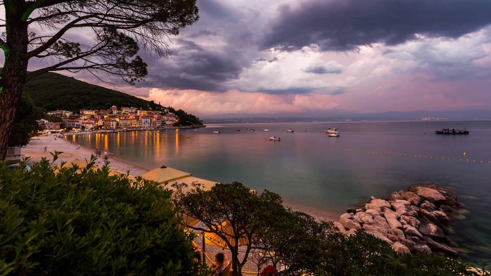 Sipar Strand bei Moscenicka Draga einer der schönsten Strände in Kroatien