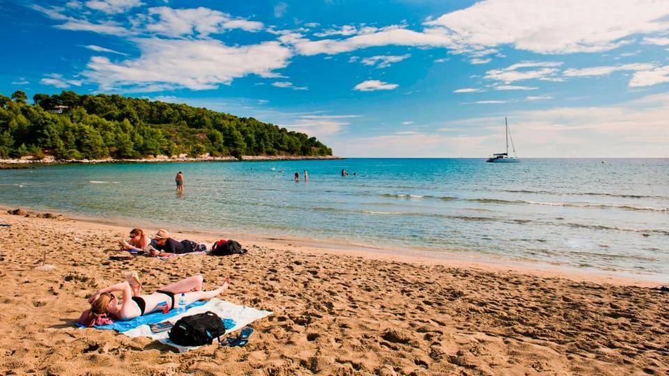 Strand Vela Priznia auf der Insel Korcula einer der schönsten Strände in Kroatien