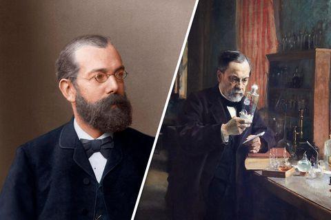Medizingeschichte: Zwei herausragende Wissenschaftler: Robert Koch (l.) und Louis Pasteur