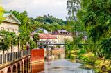 Ufer der Saale in Bad Kissingen