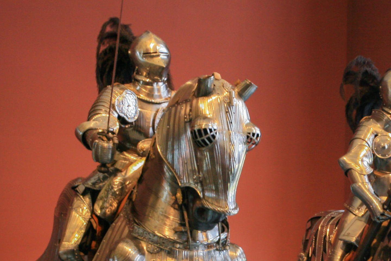 Rüstung eines Ritter auf Pferd in der Kunstsammlung Dresden
