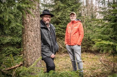 Ökologische Waldbewirtschaftung: Hauptfiguren bei unserem Projekt: Pierre Ibisch, Professor für »Nature Conservation« in Eberswalde und der Förster und Autor Peter Wohlleben
