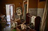 Ein zerstörtes Badezimmer im Sursock-Palast, der vor der Explosionskatastrophe als Musezm diente