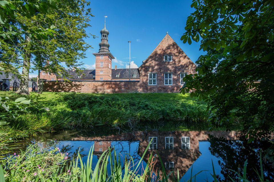 Blick auf das Schloss vor Husum