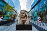 Kunstwerk von  Sheikh Hamdan, Kronprinz von Dubai, im Dubai Design District
