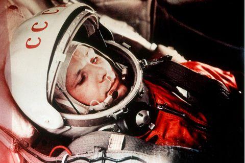 Der Kosmonaut vor dem Start: Jurij Gagarin hat sich gegen mehr als 3400 Konkurrenten durchgesetzt