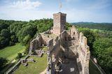 Blick auf die Ruine der Burg Rötteln