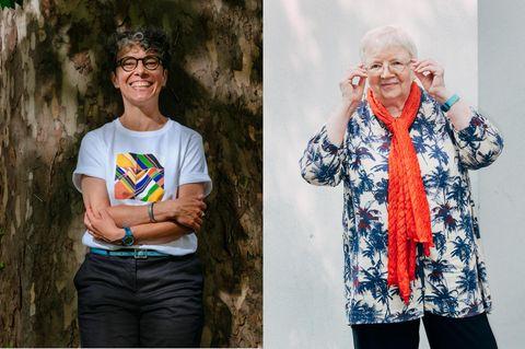 """Ewa Trutkowski(li.), geboren 1974, promovierte Sprachwissenschaftlerin, entdeckte früh ihre Liebe zur Literatur und Sprache. Eines ihrer Forschungsthemen ist die Interaktion von Genus und Sexus, des grammatischen und des natürlichen Geschlechts. Sie ist mit der Goethe-Universität Frankfurt am Main assoziiert und arbeitet als Forscherin an der Freien Universität Bozen. Luise Pusch, geboren 1944, gilt als eine der Begründerinnen der feministischen Linguistik in Deutschland. Sie promovierte im Fach Anglistik und habilitierte über das italienische gerundio. Sie spezialisierte sich danach auf die feministische Sprachkritik und engagierte sich für eine gendersensible Sprache in Aufsätzen, Glossen, Vorträgen und Workshops. 1984 erschien ihre Textsammlung """"Das Deutsche als Männersprache"""". Luise Pusch lebt in Hannover und Boston."""