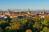 Zentrum von Vitoria-Gasteiz bei Sonnenuntergang, Baskenland, Spanien