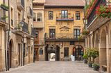 Altstadt von Laguardia im Baskenland, Spanien