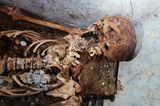 Mumifizierte Überreste von Marcus Venerius Secundio, einem früheren Sklaven in Pompeji