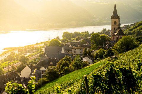 Blick auf das Dorf Lorch