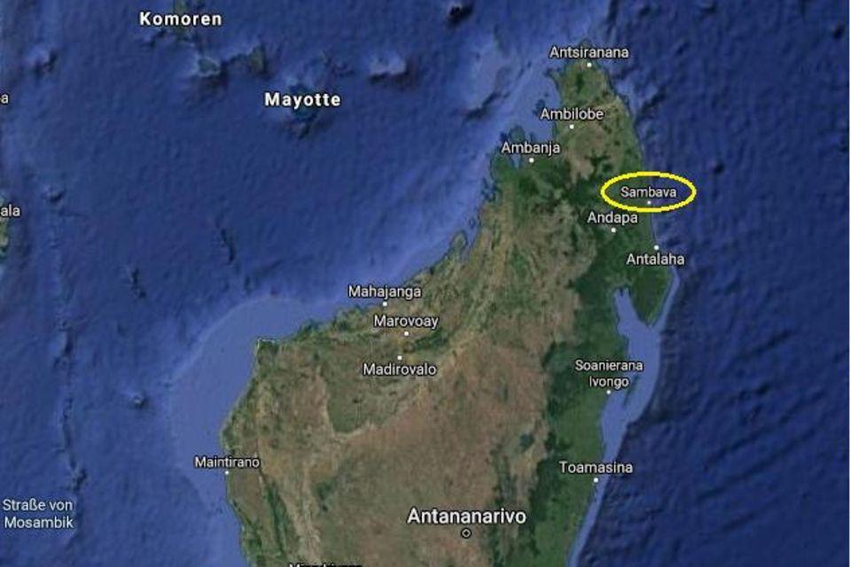 Lage des Projektgebietes im Nordosten Madagaskars