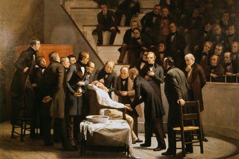 In Boston gelingt 1846 erstmals eine Operation unter Narkose. Zuvor erlitten Patienten jeglichen medizinischen Eingriff bei vollem Bewusstsein