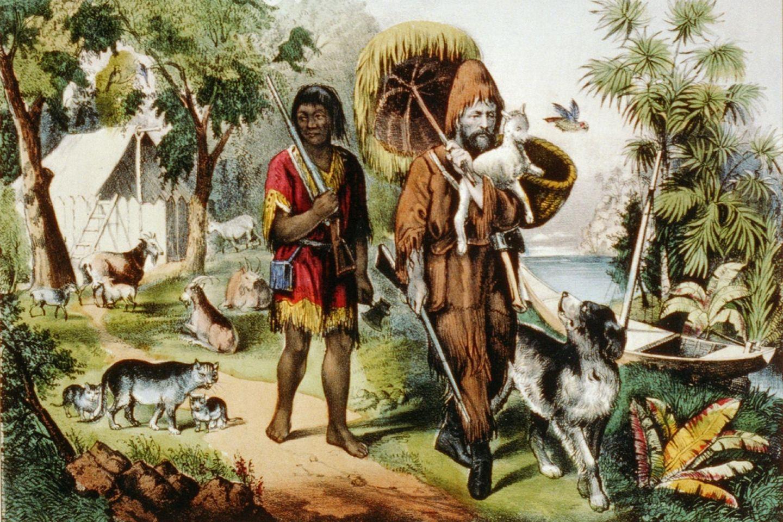 Robinson Crusoe und sein Begleiter Freitag