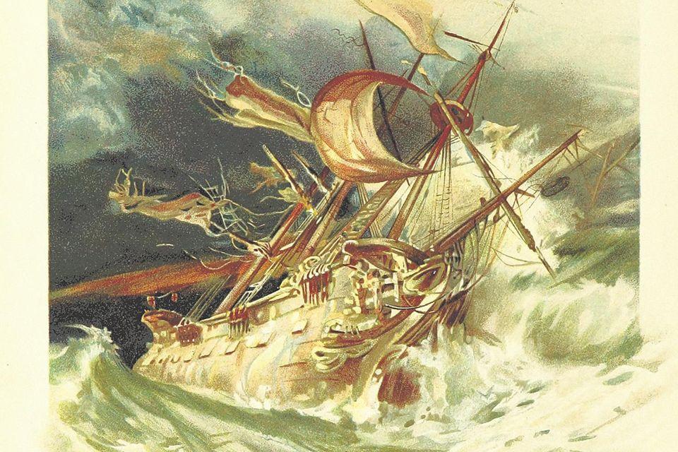 "Szene aus ""Robinson Crusoe"""