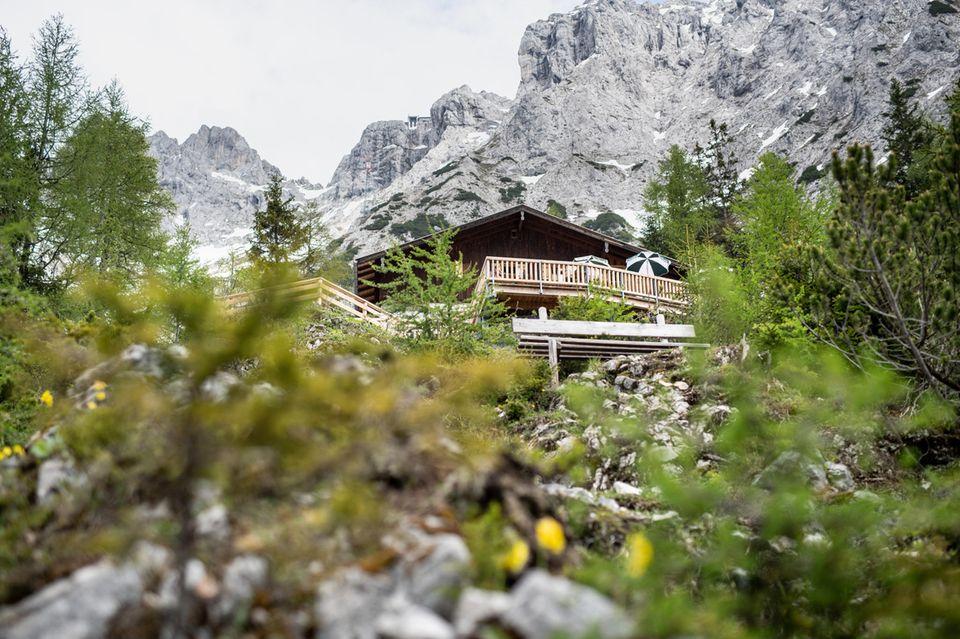 Mittenwalder Hütte im Karwendelmassiv