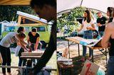AusKanthölzern und einemalten Lattenrost wurden beim Upcycling mit dem Chaos Camping Club Campingstuhl oder Klapptisch und nebenan lief ein interaktiver Workshop zur Problematik von (Mikro-)Plastik mit @langbrett