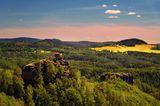 Der Aussichtspunkt Marienfels in der Böhmischen Schweiz