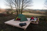 Trekkingplatz im Nationalpark Eifel