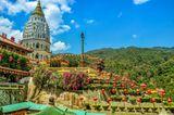 Blick auf den Kek Lok Si Tempel auf der Insel Penang
